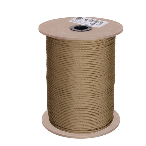 Rothco Nylon Paracord 550lb 1000 Ft Spool- Coyote Brown