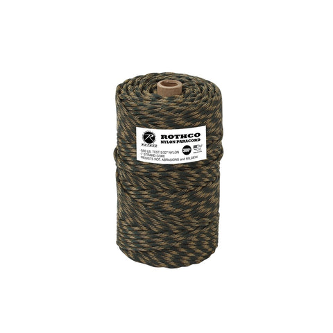 Nylon Paracord 550lb 300 Ft Tube - Woodland Camo