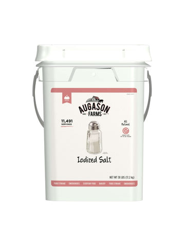 Augason Farms Iodized Salt 4-Gallon Pail