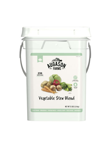 Augason Farms Vegetable Stew Blend 4 Gal. Pail