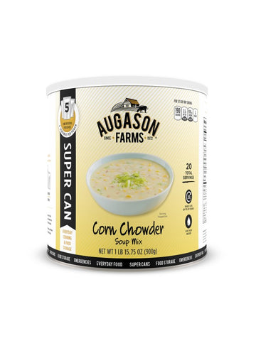 Augason Farms Corn Chowder Soup Super Can