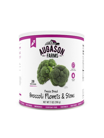 Augason Farms Freeze Dried Broccoli Florets & Stems