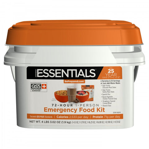 72-Hour 1-Person Emergency Food Kit - Emergency Essentials
