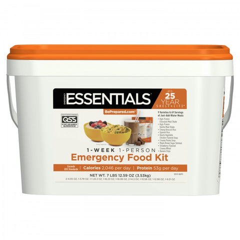 1-Week 1-Person Emergency Food Kit - Emergency Essentials