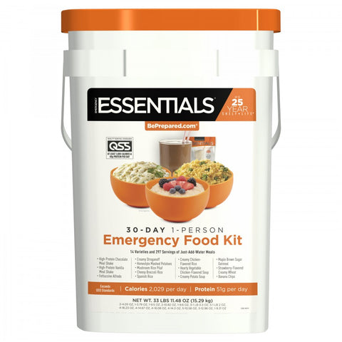 30-Day 1-Person Emergency Food Kit - Emergency Essentials