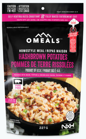 OMEALS HASHBROWN POTATOES WITH BACON