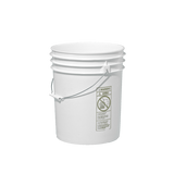 White Food Grade Bucket with Lid - 5 Gallon (3 Pack)
