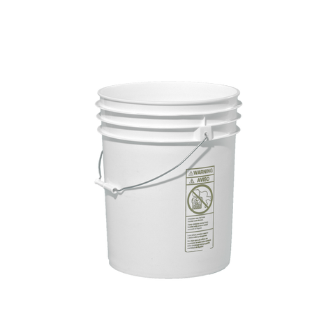 White Food Grade Bucket with Lid - 5 Gallon (3 Pack