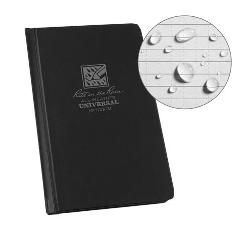 "Rite In The Rain Weatherproof Hard Cover Notebook, 4.25"" x 6.75"""