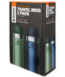 STANLEY CLASSIC TRIGGER-ACTION TRAVEL MUG TWIN PACK 20 OZ