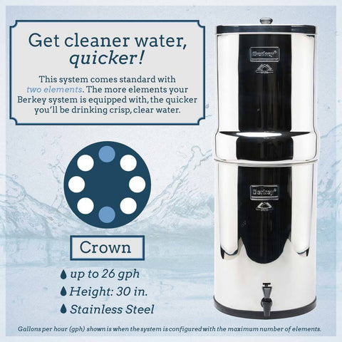 Crown Berkey Water Filter (6 gal)