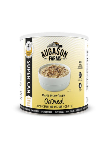 Augason Farms Maple Brown Sugar Oatmeal Super Can