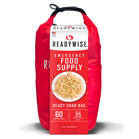 ReadyWise Emergency Food Supply Ready Grab Bag - 60 Servings