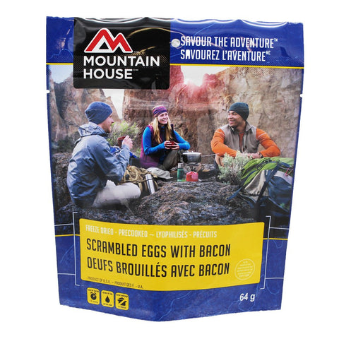 Mountain House Scrambled Eggs with Bacon Pouch - Pack of 6