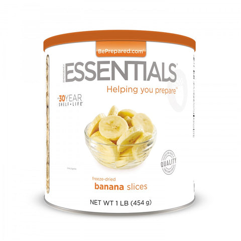 Freeze Dried Banana Slices - Large Can - Emergency Essentials