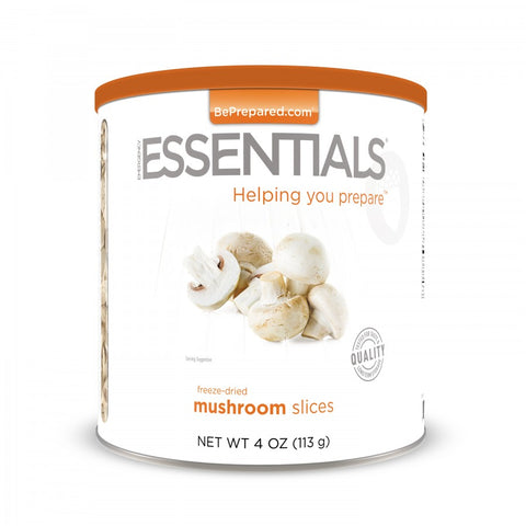 Freeze Dried Mushroom Slices - Large Can - Emergency Essentials