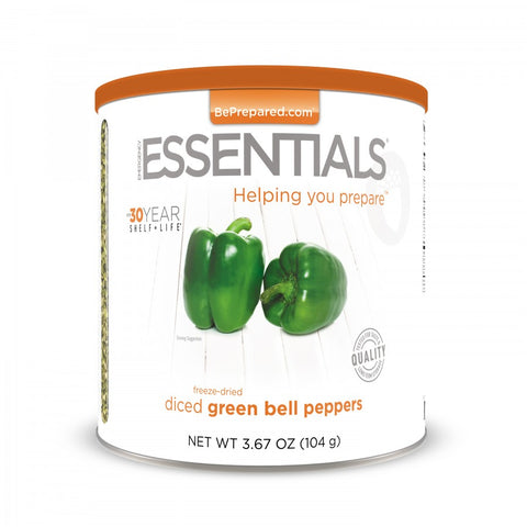 Freeze Dried Green Bell Pepper Dices - Large Can - Emergency Essentials
