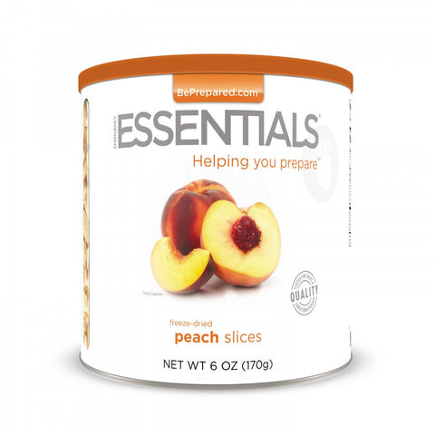 Freeze Dried Peach Slices - Large Can - Emergency Essentials
