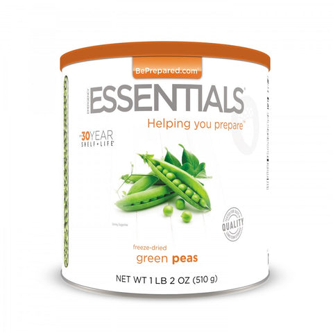 Freeze-Dried Green Peas Large Can - Emergency Essentials