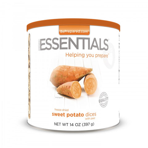 Freeze Dried Sweet Potato Dices with Peel Large Can Emergency Essentials