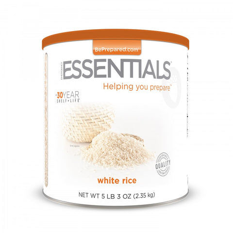 White Rice Large Can - Emergency Essentials