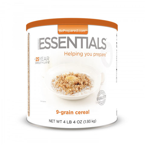 9-Grain Cereal - Large Can - Emergency Essentials