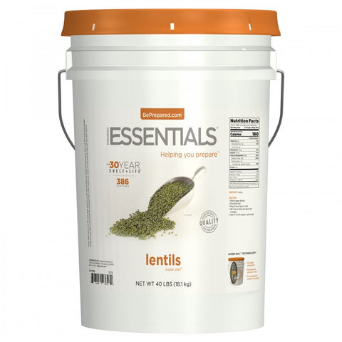 SuperPail™ Lentils - 40 lbs - Emergency Essentials