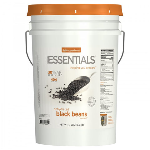 SuperPail™ Black Beans - 41 lbs - Emergency Essentials