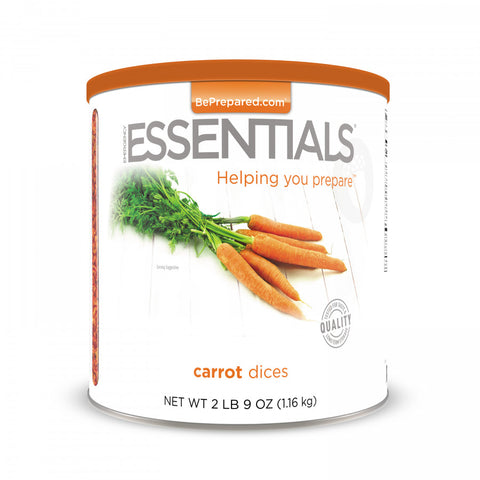 Carrot Dices Large Can - Emergency Essentials