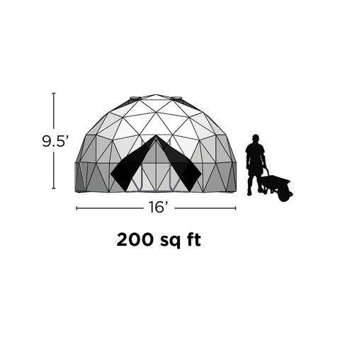 16' Geodesic Greenhouse (202sq.ft)
