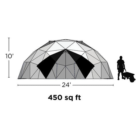 24' Geodesic Greenhouse (450sq.ft)
