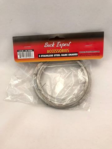 Stainless Steel Hare Snares - 28' pack of 3