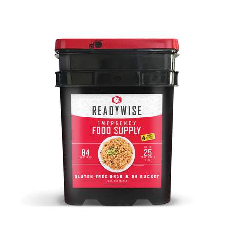 ReadyWise Gluten Free Grab and Go Bucket - 84 Servings