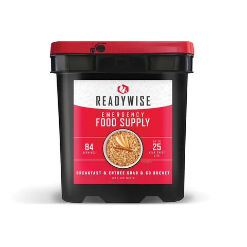 ReadyWise Breakfast & Entree Grab & Go Bucket- 84 Servings
