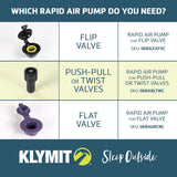 Klymit Rapid Air Pump for Flip Valve