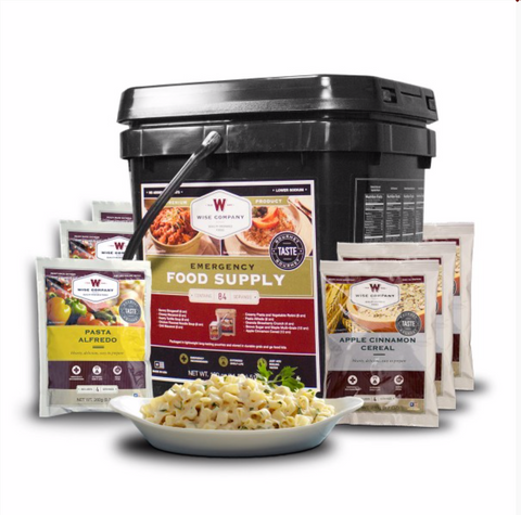 Wise Emergency Freeze Dried Breakfast and Entree Bucket - 84 Servings