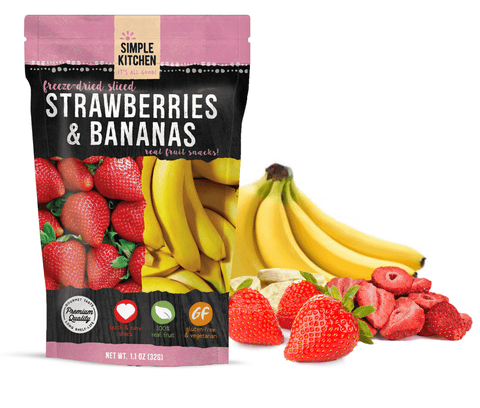 Simple Kitchen Freeze-Dried Strawberries & Bananas - 6 Pack