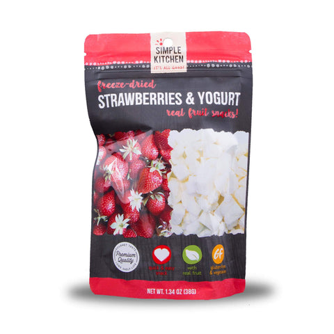 Simple Kitchen Freeze-Dried Strawberries & Yogurt - 6 Pack