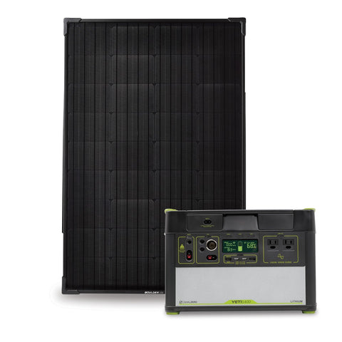 Goal Zero Yeti 1400 Lithium Power Station With Wifi + Boulder 100 Solar Kit