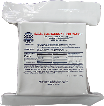 SOS Emergency Ration Bar - 3600 Kcal