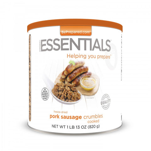Freeze-Dried Pork Sausage Crumbles - Pre Order - Emergency Essentials