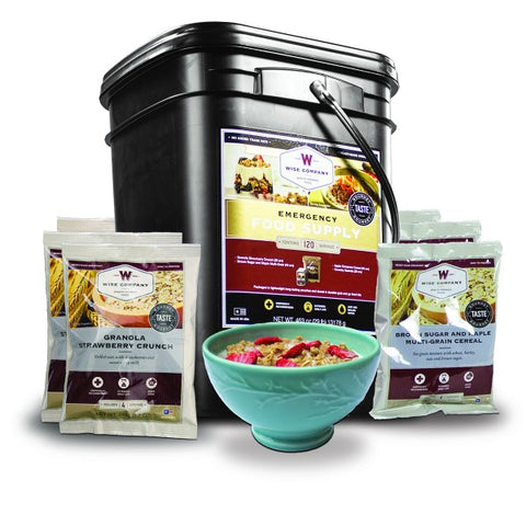 Wise Emergency Freeze Dried Breakfast Bucket - 120 Servings