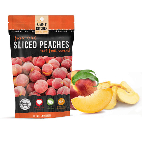 Simple Kitchen Freeze-Dried Peaches - 6 Pack