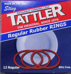 Tattler Regular Reusable Rubber Rings - 12 Pack