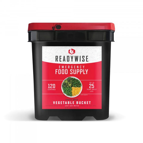 ReadyWise Emergency Freeze Dried Vegetable Variety - 120 Serving
