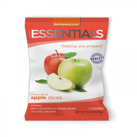 Freeze-Dried 12 Serving Apple Dices Pouch - Emergency Essentials