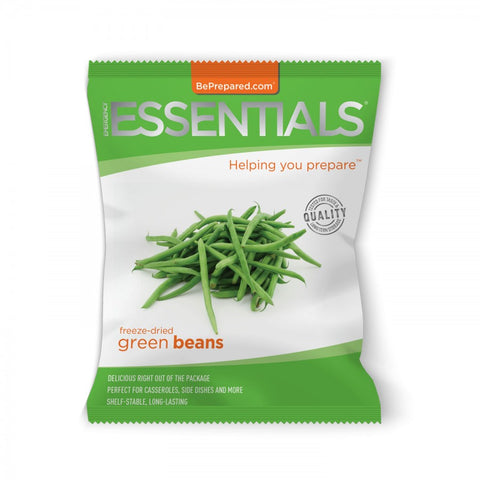 Freeze-Dried 9 Serving Green Beans Pouch - Emergency Essentials