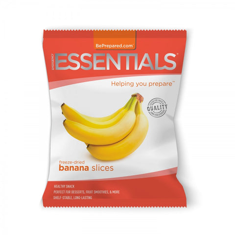 Freeze-Dried 10-Serving Banana Slices Pouch - Emergency Essentials
