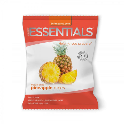 Freeze-Dried 8 Serving Pineapple Dices Pouch - Emergency Essentials