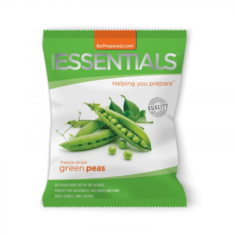 Freeze-Dried 14 Serving Green Peas Pouch - Emergency Essentials
